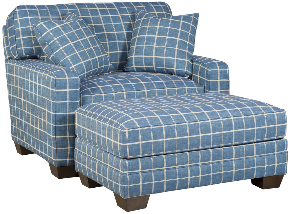 King Hickory - Bentley Chair and a Half and Ottoman