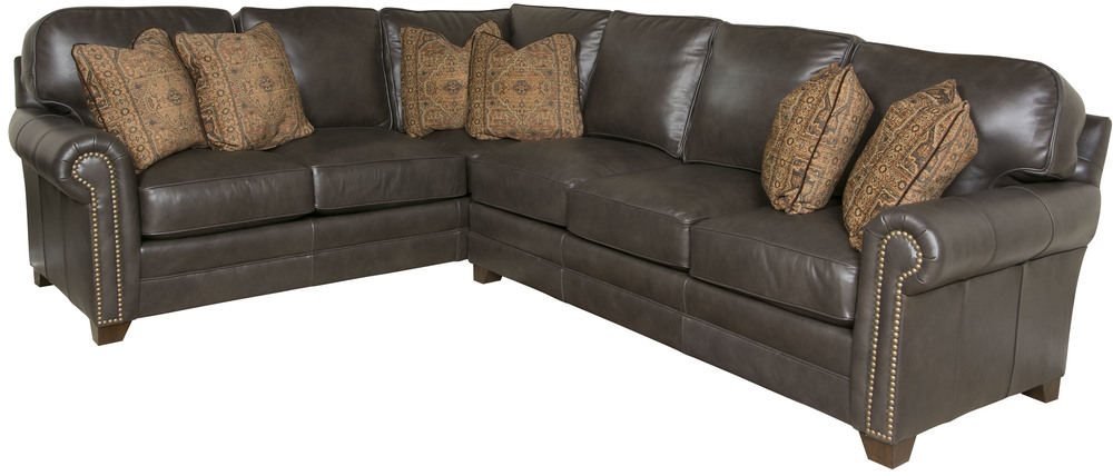 King Hickory - Bentley Two Piece Leather Sectional