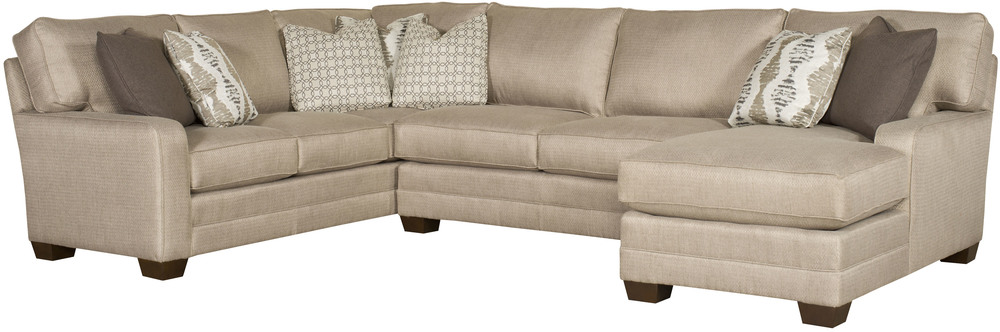King Hickory - Bentley Three Piece Sectional with Chaise