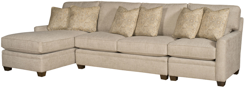 King Hickory - Benson Three Piece Sectional with Chaise