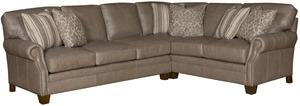 Thumbnail of King Hickory - Jordan Two Piece Leather Sectional