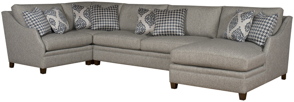 King Hickory - Brandy Four Piece Sectional with Chaise
