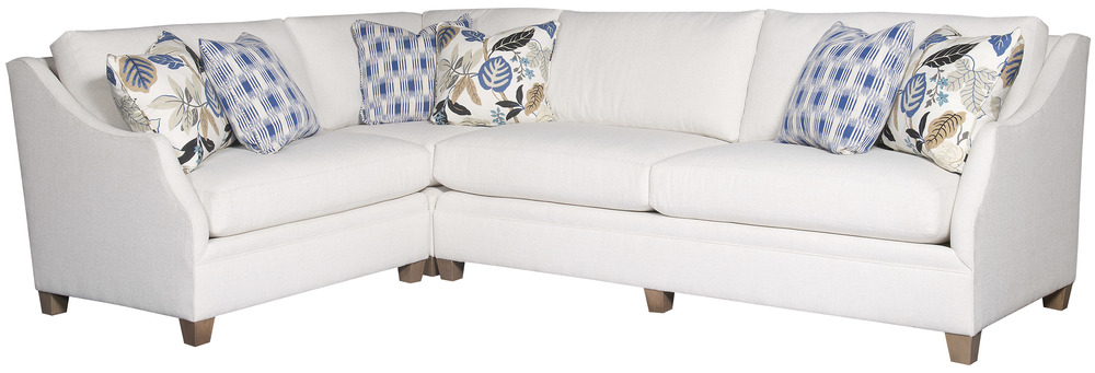 King Hickory - Brandy Three Piece Sectional