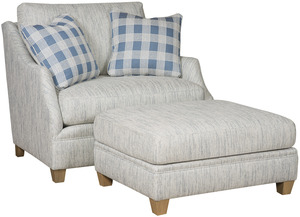 Thumbnail of King Hickory - Brandy Chair and a Half and Ottoman
