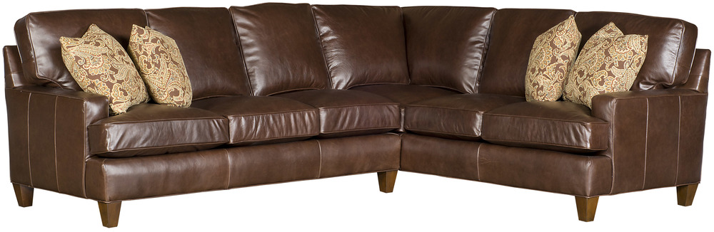 King Hickory - Chatham Two Piece Leather Sectional
