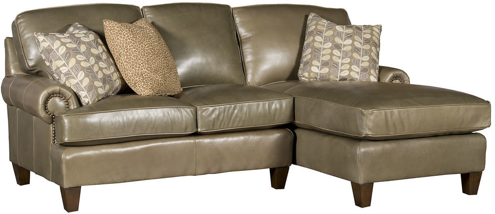 King Hickory - Chatham Two Piece Leather Sectional with Chaise