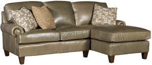 Thumbnail of King Hickory - Chatham Two Piece Leather Sectional with Chaise