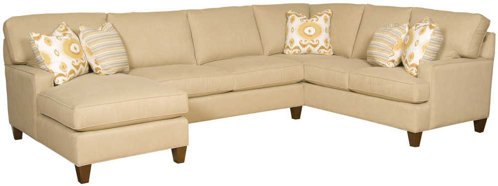 King Hickory - Chatham Three Piece Sectional with Chaise
