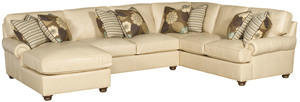 Thumbnail of King Hickory - Henson Three Piece Leather Sectional with Chaise