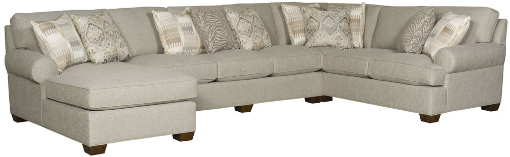 King Hickory - Henson Three Piece Sectional with Chaise
