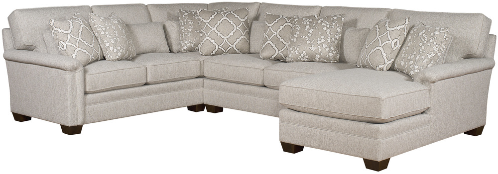 King Hickory - Whitney Three Piece Sectional with Chaise