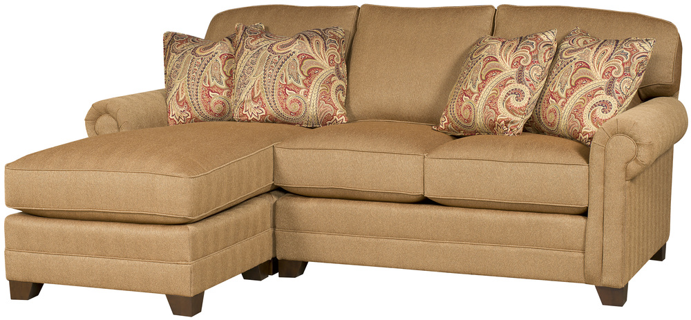 King Hickory - Winston Three Piece Sectional with Chaise
