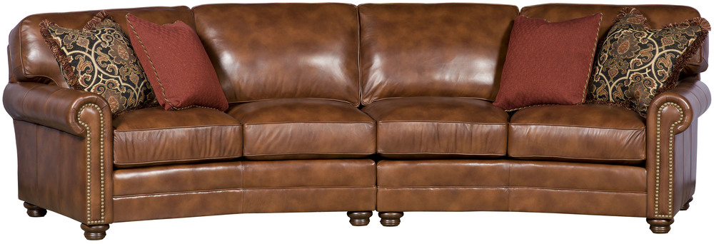 King Hickory - Winston Two Piece Leather Sectional