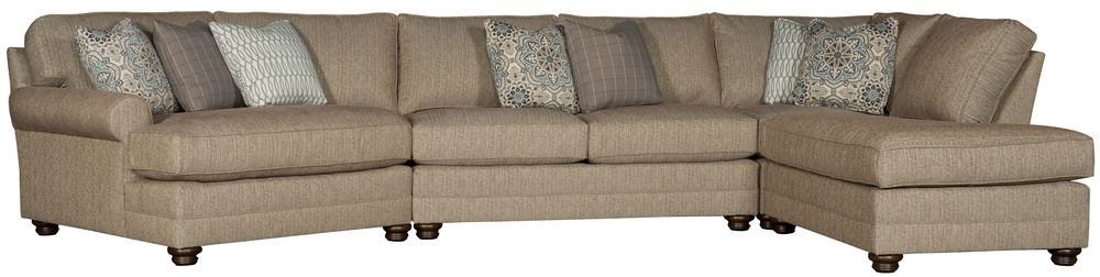 King Hickory - Winston Four Piece Sectional with Wedge and Bumper