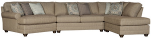 Thumbnail of King Hickory - Winston Four Piece Sectional with Wedge and Bumper