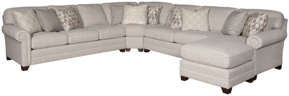 King Hickory - Winston Five Piece Sectional with Chaise