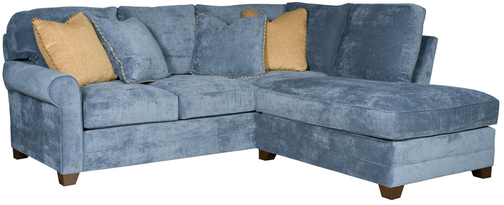 King Hickory - Winston Two Piece Sectional with Bumper