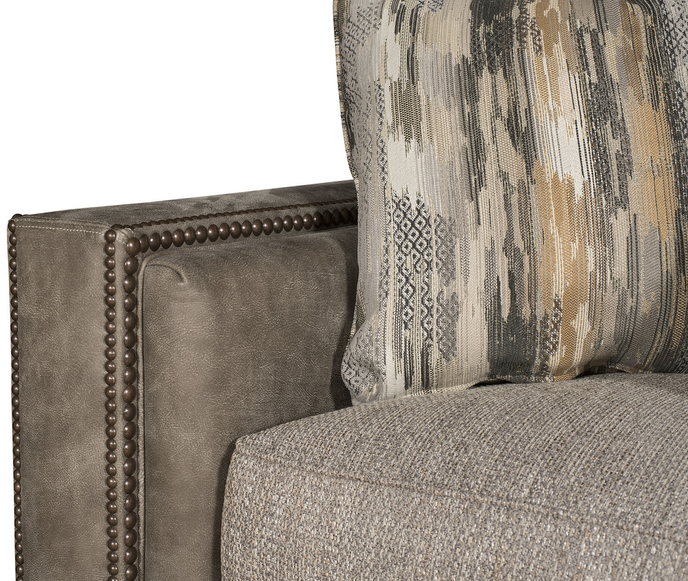 King Hickory - Reno Leather and Fabric Sectional with Chaise