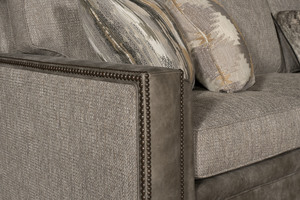 Thumbnail of King Hickory - Reno Leather and Fabric Sectional with Chaise