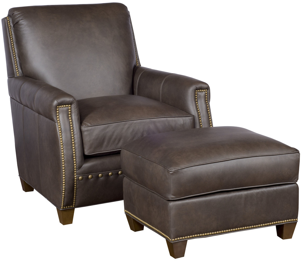 King Hickory - Grant Leather Chair and Ottoman