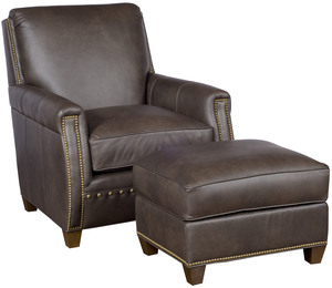Thumbnail of King Hickory - Grant Leather Chair and Ottoman