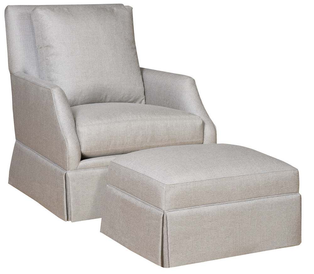 King Hickory - Emma Swivel Chair and Ottoman