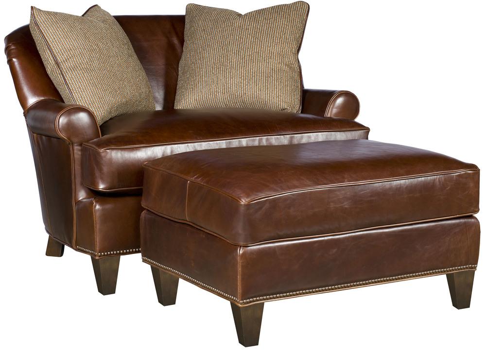 King Hickory - Snuggle Chair and a Half and Ottoman