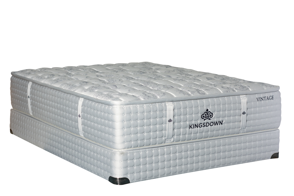 Kingsdown - Vintage Brenneman Mattress with Low Profile Box Spring