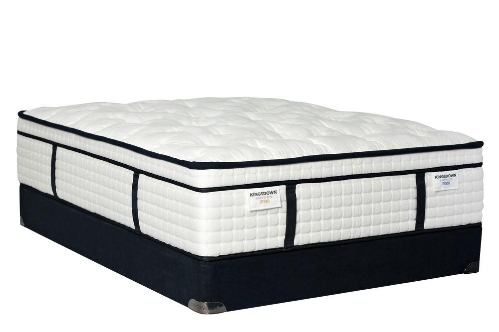 Kingsdown - KD 11000 Gold/Blue Mattress with Low Profile Box Springs