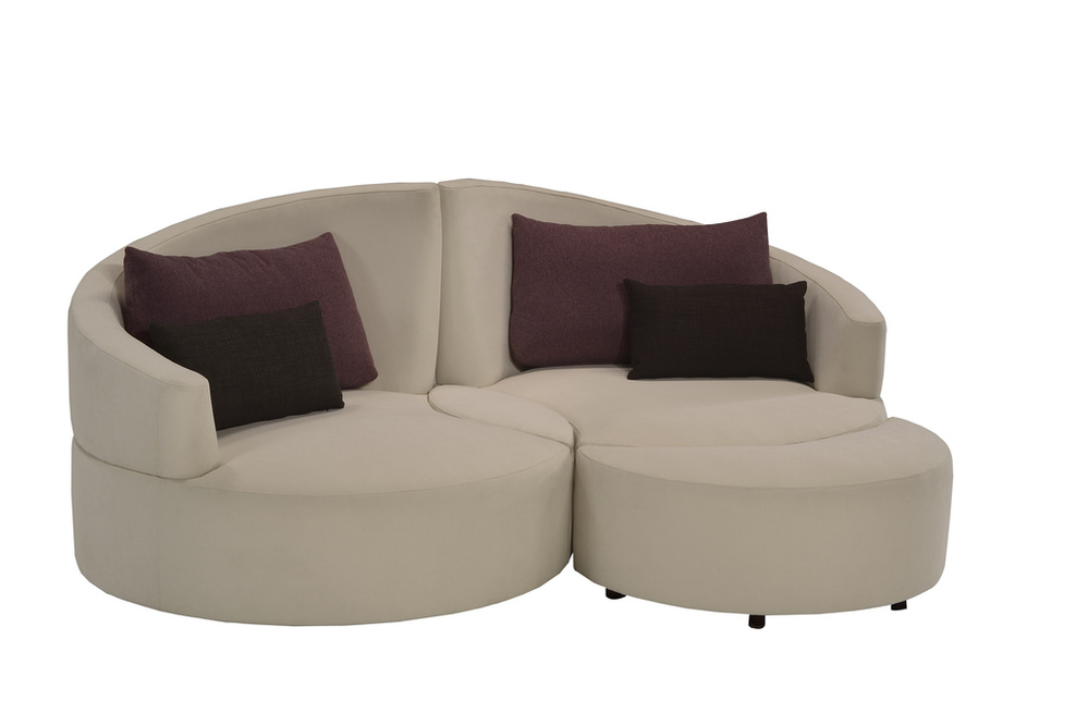 Lazar - Siamese Twin Lounge Chair Right Arm Facing