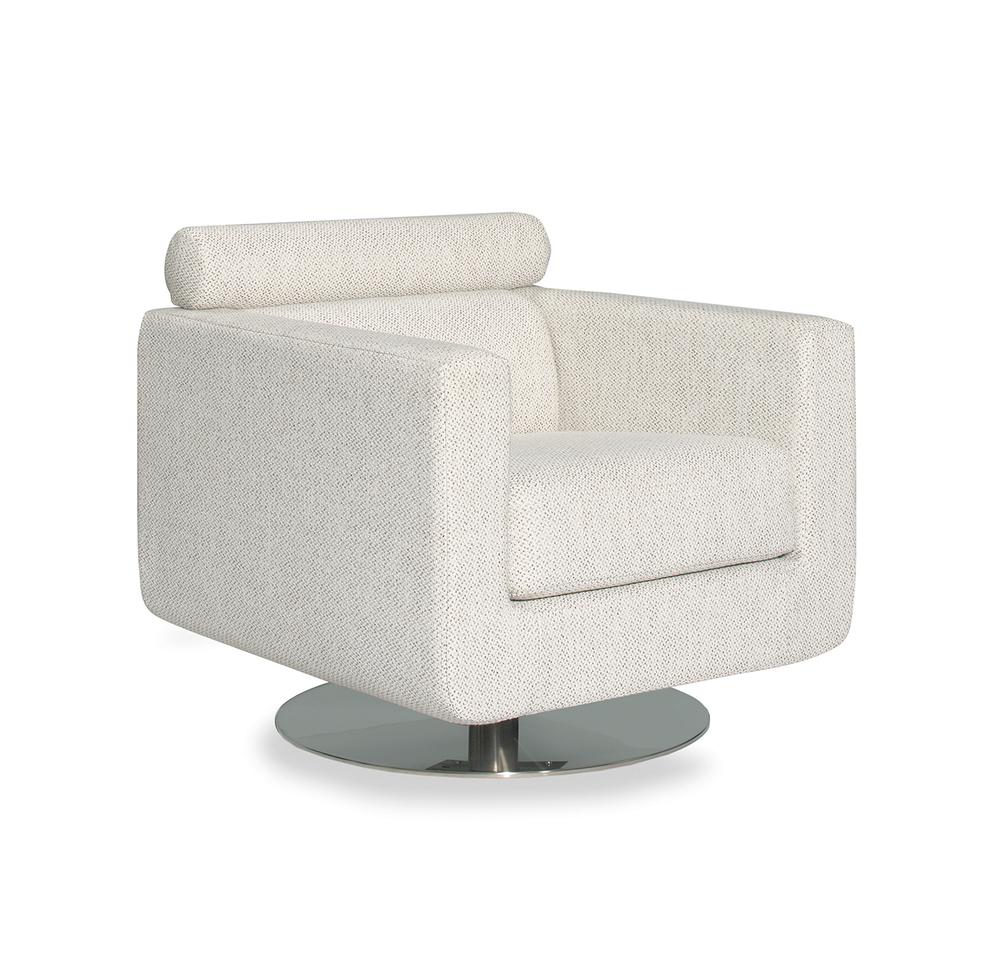 Lazar - Barletta Swivel Chair, 360 Metal Base
