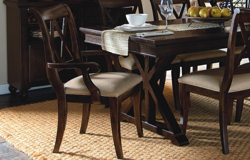 Legacy Classic Furniture - X-Back Arm Chair