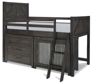 Thumbnail of Legacy Classic Furniture - Twin Mid Loft bed with Single Dresser and Sliding Door Chest