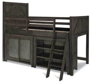 Thumbnail of Legacy Classic Furniture - Twin Mid Loft Bed with Sliding Door Chest and Bookcase