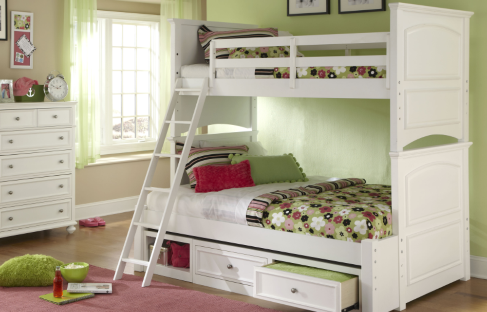 Legacy Classic Furniture - Twin over Full Bunk Bed with Storage Drawers