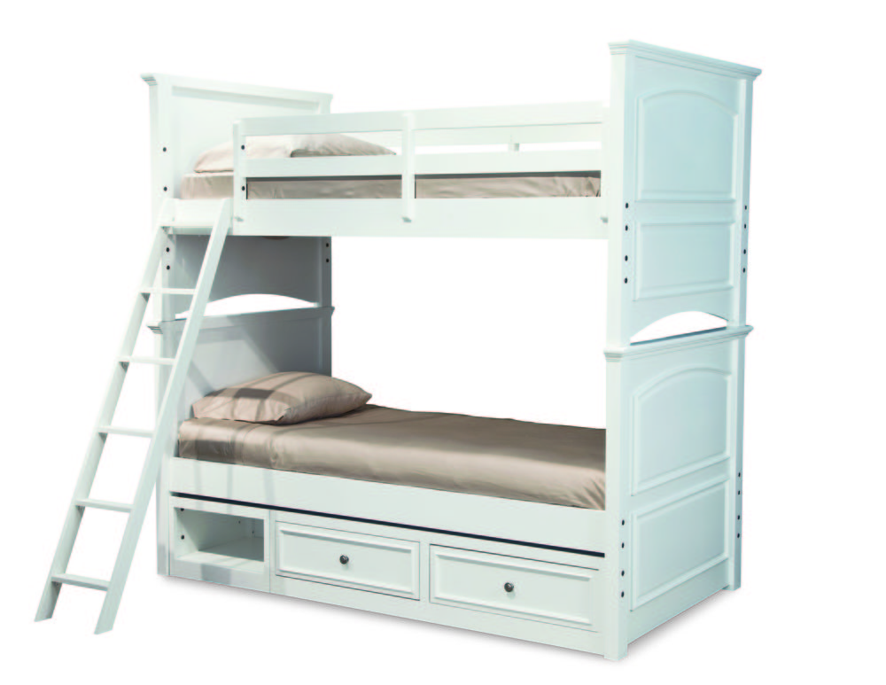Legacy Classic Furniture - Twin over Twin Bunk Beds with Storage