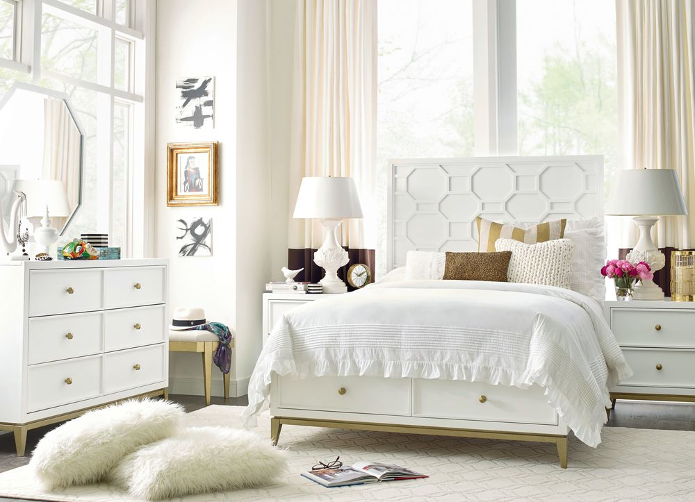 Legacy Classic Furniture - Full Complete Panel Bed with Storage Footboard