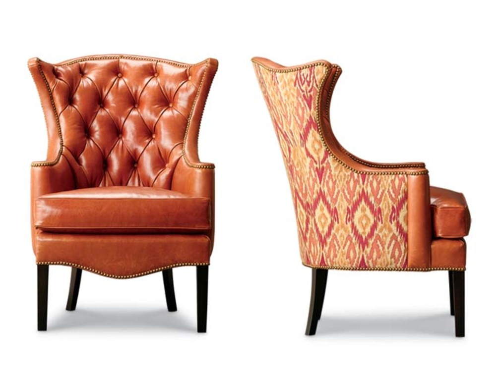Leathercraft - Tufted Wing Chair