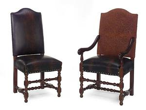 Thumbnail of Leathercraft - Armless Dining Chair