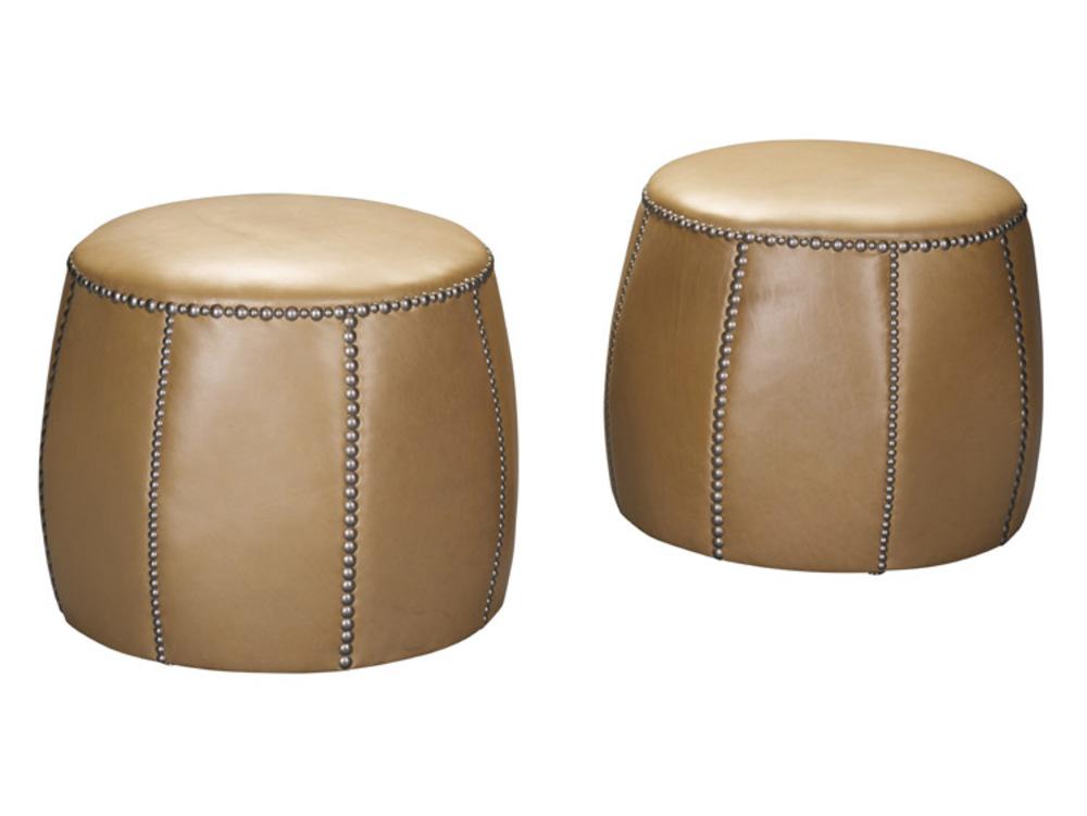Leathercraft - Small Round Ottoman