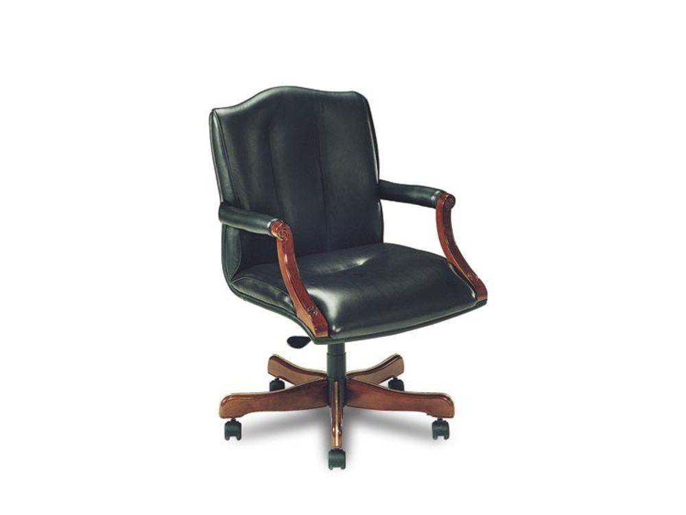 Leathercraft - Tilt Swivel Open Arm Chair