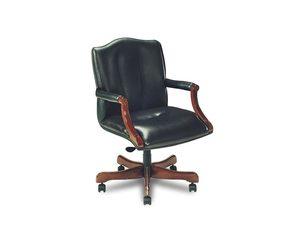 Thumbnail of Leathercraft - Tilt Swivel Open Arm Chair