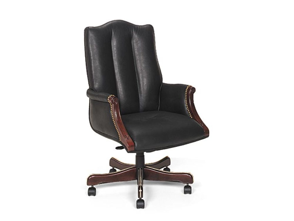 Leathercraft - High Back Tilt Swivel Chair with Upholstered Arms