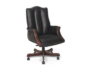 Thumbnail of Leathercraft - High Back Tilt Swivel Chair with Upholstered Arms