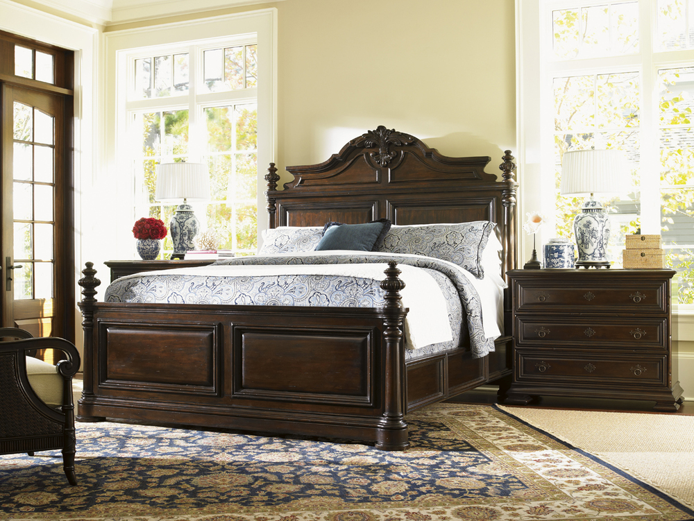 Lexington - Amherst Carved Panel Bed, Queen