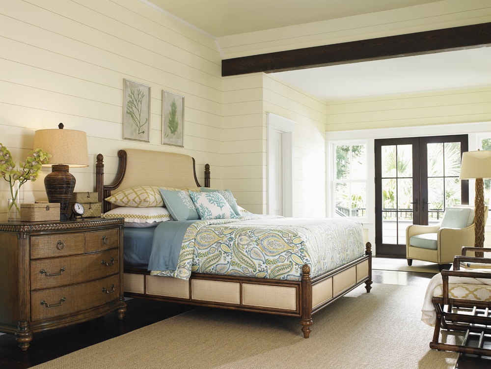 Lexington - Orchid Bay Upholstered Panel Bed
