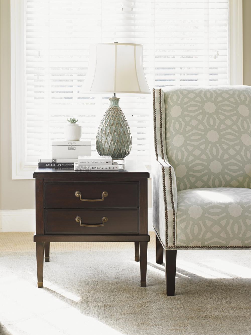 Lexington - Chandler Drawer Lamp Table