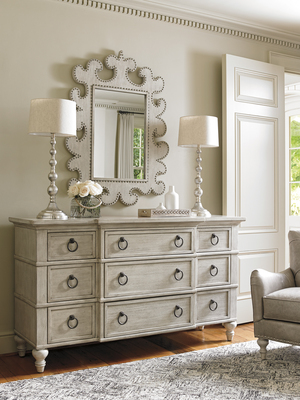 Thumbnail of Lexington - Barrett Nine Drawer Triple Dresser in Light Wood