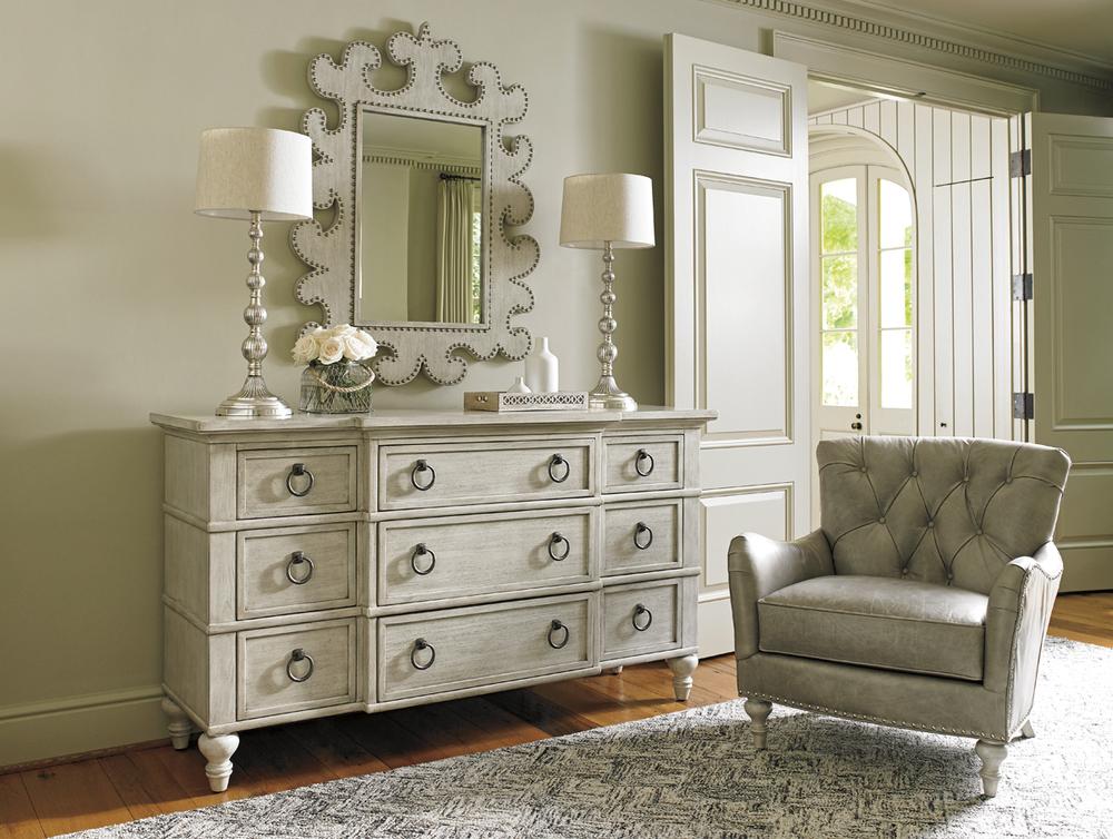 Lexington - Barrett Nine Drawer Triple Dresser in Light Wood