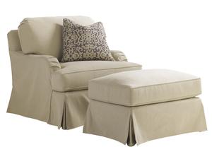 Thumbnail of Lexington - Stowe Swivel Slipcover Chair- Khaki